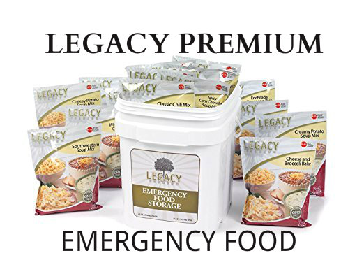 Legacy Premium Food Storage. Food for survival, disasters, and outdoor activities.